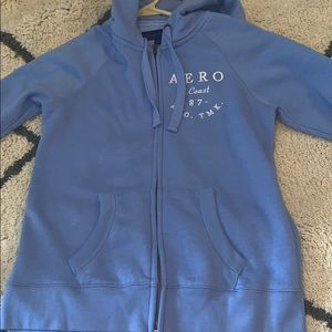baby blue aero zip up
